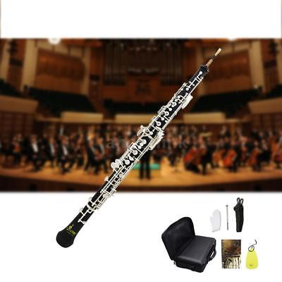 Professional Oboe C Key Cupronickel Plated Silver for Beginners Instrument - Oboe Instrument