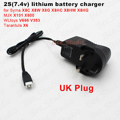 UK plug 7.4V Lipo Battery Charger Syma X8C X8W X8HC X8HG V666 Quadcopter Drone