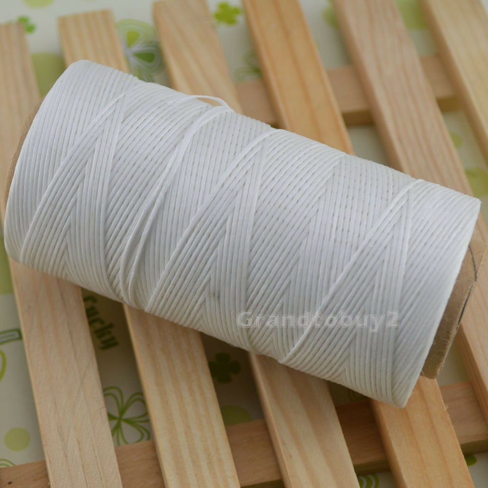 284yards 19 Colors 0.8mm Sewing Leather Waxed Thread Cord Leather Craft White