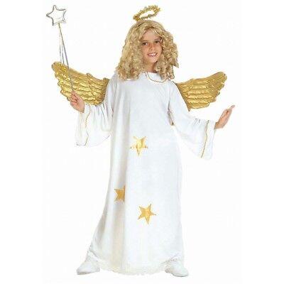 Angel Costume For Children (Children's Star Angel Child 128cm Costume For Christmas Panto Nativity Fancy)