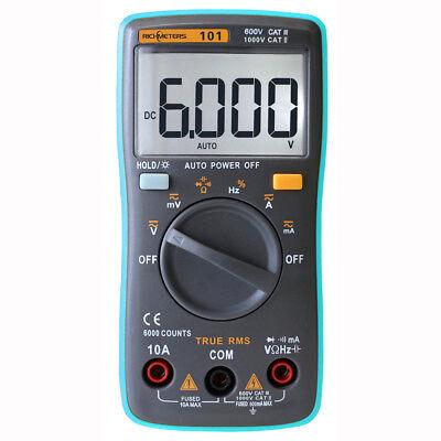 Rm101 Digital Multimeter Tester Acdc Meter Voltmeter Volt Fluke Lcd Ammeter