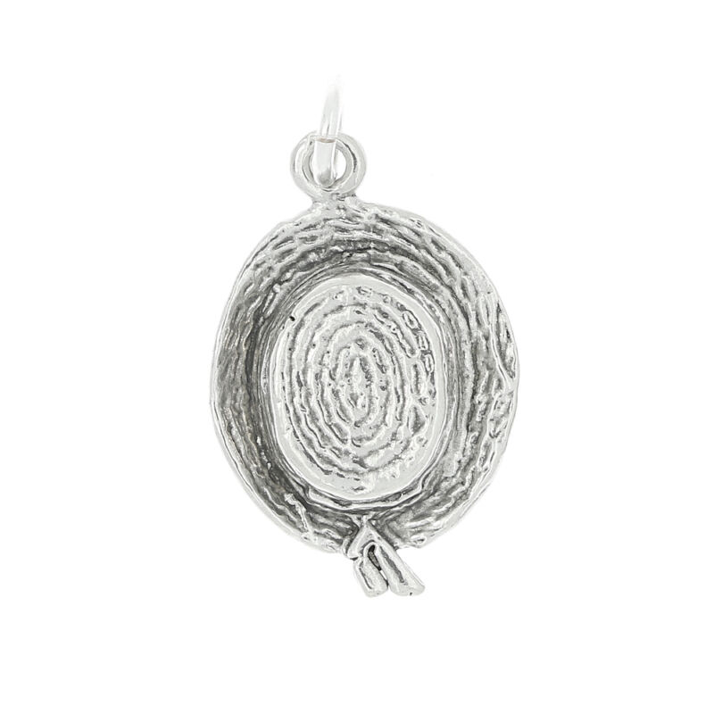 STERLING SILVER SUNDAY HAT CHARM OR PENDANT