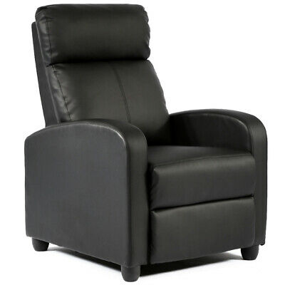 Recliner Chair Modern Leather Chaise Couch Single Accent Recliner Chair Sofa Brown Modern Lounge Chairs