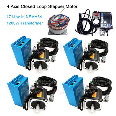 4axis Nema34 12nm Motor Closed Loop Stepper Driver Kit Power Supplycontroller