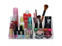 LARGE Clear Makeup Brush Organiser Acrylic Transparent Make up Cosmetic Holder Kardashians Bathroom