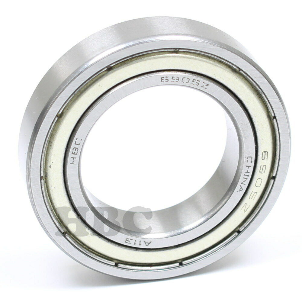 Stainless Steel Radial Ball Bearing S6905-2RS With 2 Rubber Seals 25x42x9mm