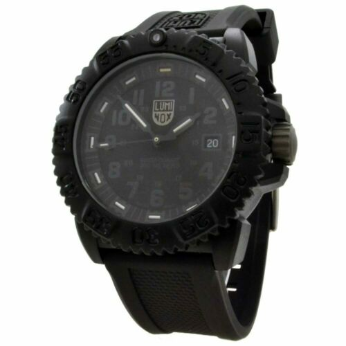 Luminox Watch Navy Seal Mens Swiss Colormark Blackout 3051.BO AUTHORIZED DEALER