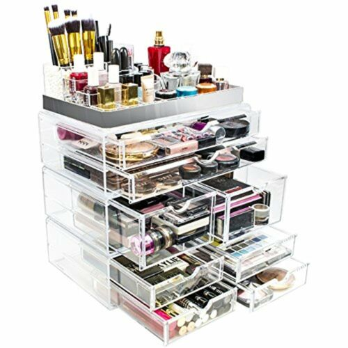 Sorbus Acrylic Cosmetic Makeup and Jewelry Storage Case Disp