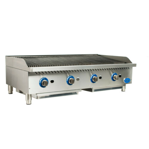 Globe Gcb48g-sr Gas Countertop Stainless Steel Radiant Charbroiler