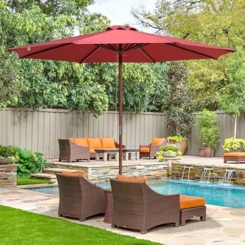 Faded Sunbrella Backyard Garden Parasol