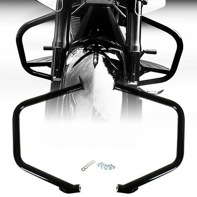 Gloss Black Highway Engine Guards For Victory  Road Cross Country 2010-2016 17