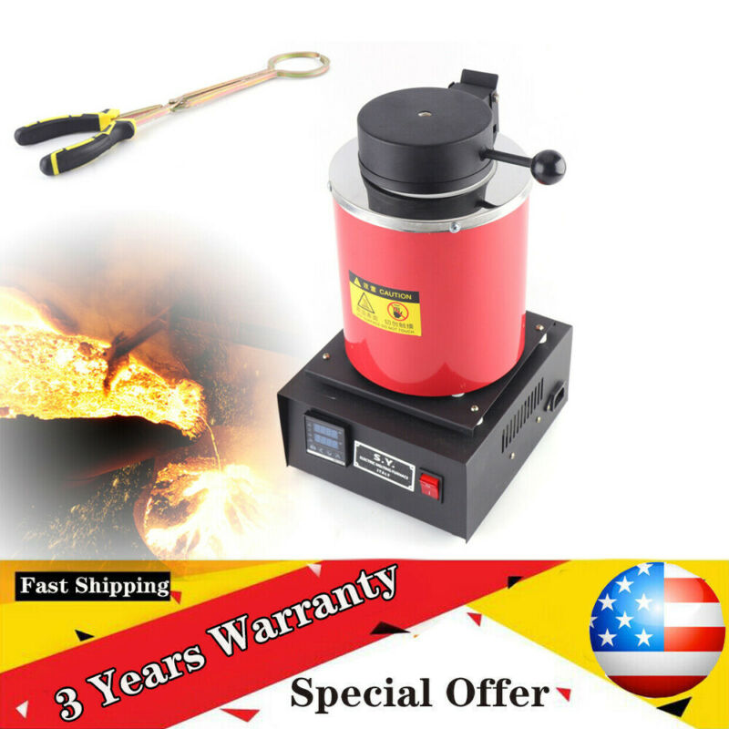 3kg Electric Melting Furnace Metal Smelter Gold Silver Jewelry Casting Machine