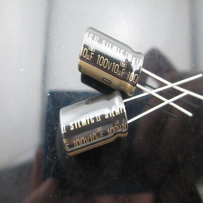 4pcs Elna Silmic Ii Rfs 10mfd 100v 10uf Audio Electrolytic Capacitor 10x16mm