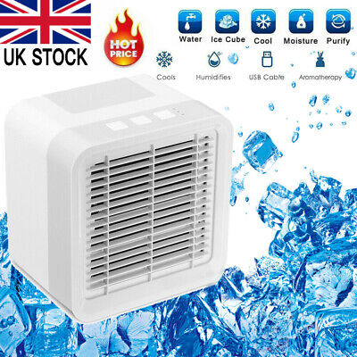 3 in 1 Mini Air Cooler Fan Portable Conditioner Humidifier Purifier USB Cooling