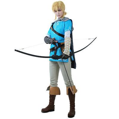 The Legend of Zelda Breath of the Wild Link Cosplay Costume Outfit Fancy Dress - Cosplay Legend Of Zelda