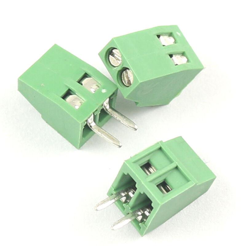 "10Pcs 2.54mm 0.1"" Universal 2 Pin2 Poles PCB Screw Terminal Block Connector"