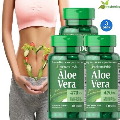 #1 BEST ALOE VERA 470mg DIGESTION STOMACH SOOTHING DIGESTIVE HEALTH 300