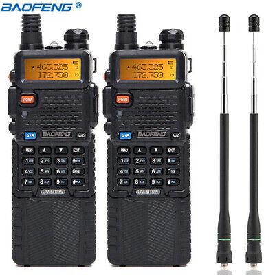 2 x Baofeng UV-5R 8W 3800mah Walkie Talkie UHF VHF Ham Two Way Radio Transceiver
