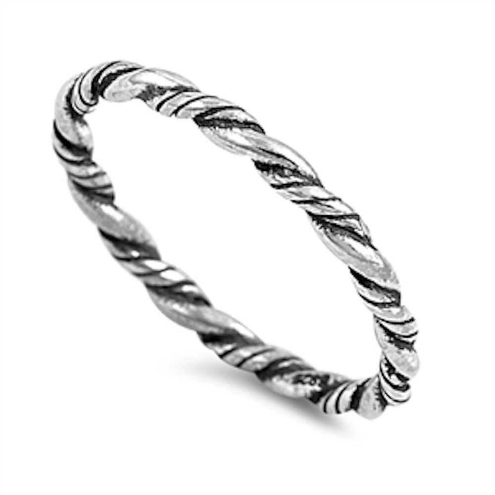 twisted rope eternity band 925 sterling silver ring sizes. Black Bedroom Furniture Sets. Home Design Ideas