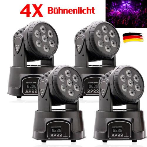 4X 70W RGBW LED Moving Head Effektlicht Bühnenlicht DMX512 Disco Beam PAR Light