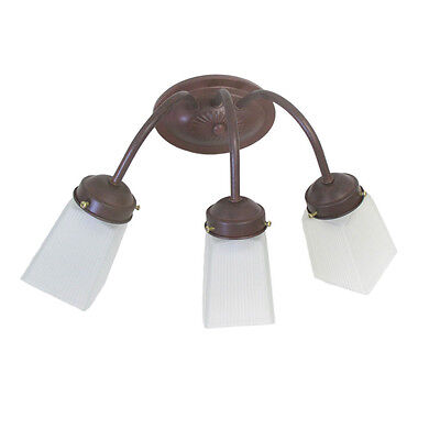 3 Light Cobblestone Wall (Cobblestone and Frosted Square Glass 3 Light  Bath Wall Light  )