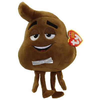"TY Beanie Baby 6"" POOP SR the Emoji Movie Plush Stuffed Animal Toy w/ Heart Tags"