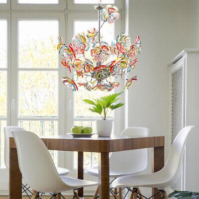 Araña de Cristal Techo Colgante Péndulo Lámpara Flores Flora Colorido Cocina