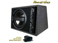 """Phoenix Gold Z112AB-V2 12"""" 320W Subwoofer Active Speaker Bass Box -FREE Wiring & Bass Control"""