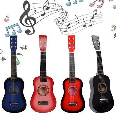 """23""""Acoustic Guitar Wood Mini Music Instrument Pick+String for Kids Beginner Gift"""