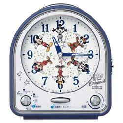 Disney Mickey Mouse Table Clock 31 Song Melody Alarm Seiko FD820L Japan Tracking