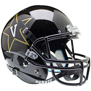 VANDERBILT-COMMODORES-FOOTBALL-HELMET-SCHUTT-XP-FULL-SIZE-REPLICA-BLACK