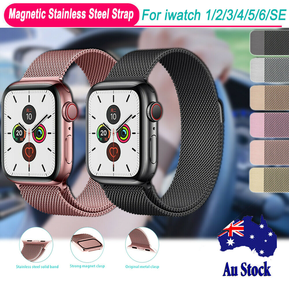 Jewellery - For Apple Watch Wrist Band Series 6 5 4 3 2 1 SE Magnetic Stainless Steel Strap