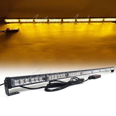 50 48w Led Strobe Light Bar Traffic Adviser Warn Truck Emergency Response Amber