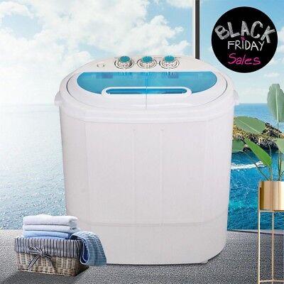 Mini Portable Compact Washing Machine 13 lbs Twin Tub Laundry Washer Spin Dryer