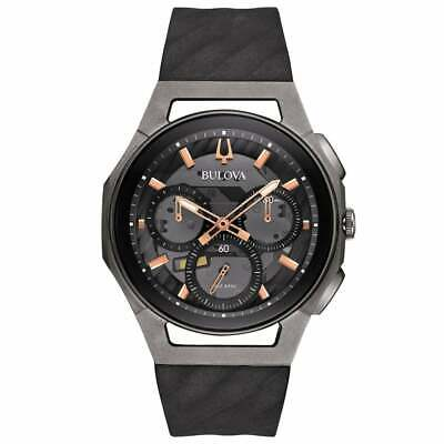 Bulova Black Chronograph Men Watch CURV 98A162