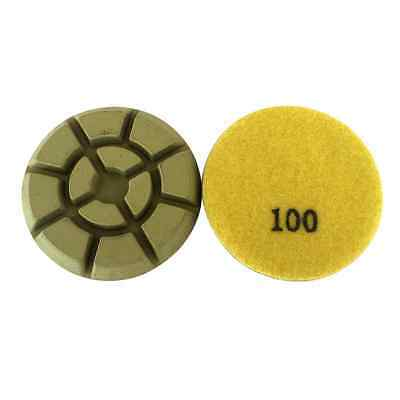 3 Dry Diamond Resin Bond Pads For Concrete Polishing- 100 Grit Of 3pcs Set