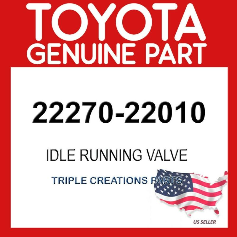 Toyota Genuine 2227022010 Valve Assy, Idle Speed Control(for Thlottle Body)