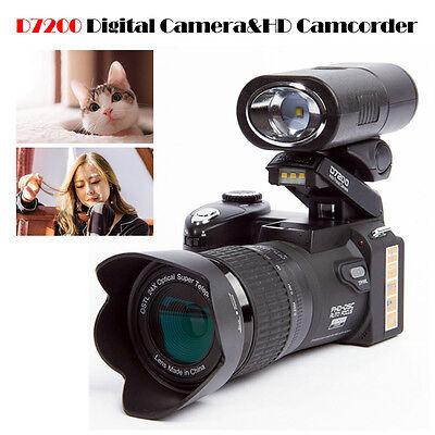 POLO D7200 HD 24X Digital Camera 13MP Auto Focus 1080P DSLR + 3 Wide Angle Lens
