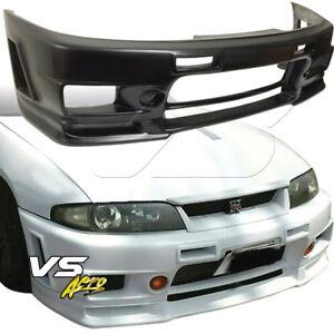 VSaero FRP NISM 400R Front Bumper 2/4dr For Nissan Skyline R33 GTS 95-98