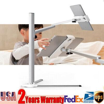 Adjustable Height Stand Holder Bracket For iPad 3.5-6''iPhone Tablet Floor Mount