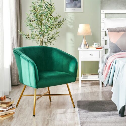 Accent Chair Upholstered Dining Chair Soft Velvet Green NEW FREESHIP