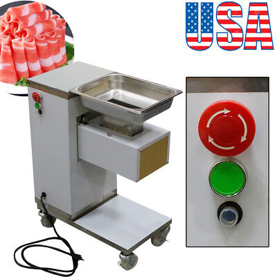 Us Stainless Commercial Meat Slicer Meat Cut Machine Cutter 500kghour 3mm Blade