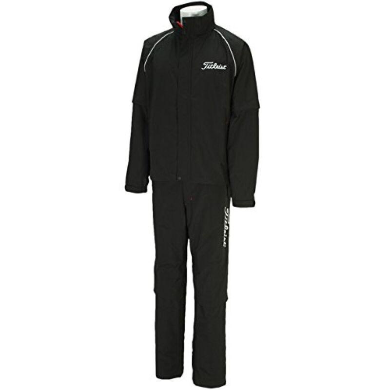 Titleist JAPAN Golf Stratch Rain Wear Jacket Pants set Black 2015 New TSMR1592