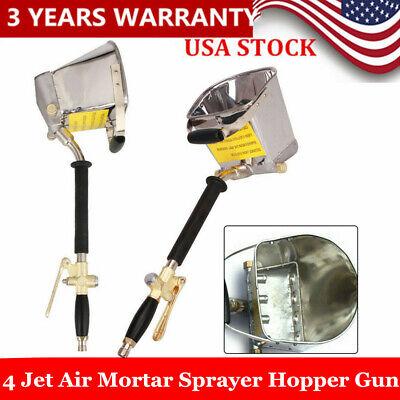 Air Stucco Sprayer Mortar Sprayer Plaster Hopper Gun Cement Sprayer Gun Tools