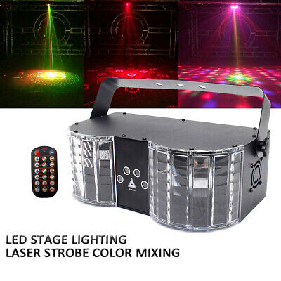 Sound Active Stage Lighting Projector LED DMX512 Laser Beam Disco DJ Party Light