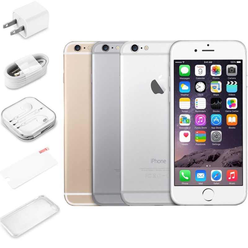 """Apple iPhone 6 16GB 64GB Smartphone GSM""""Factory Unlocked"""" Gold Gray Silver*"""