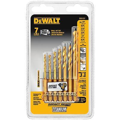 DEWALT 7 Piece IMPACT READY® Titanium Drill Bit Set - DD5157 (Dewalt Titanium Drill Bit)