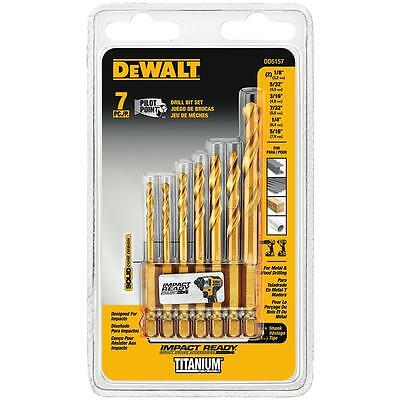 DEWALT DD5157 Impact Ready 7 Piece Titanium Drill Bit Set