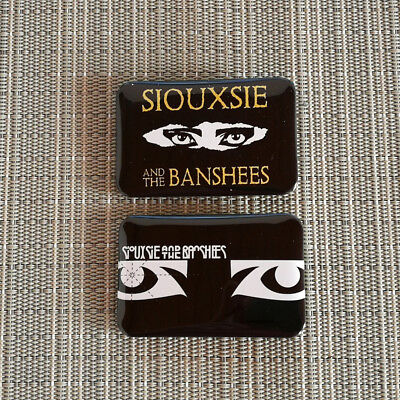 2 Siouxsie and the Banshees / Rechteck Button Pin Badge / 60/40 mm / Punk / Rock
