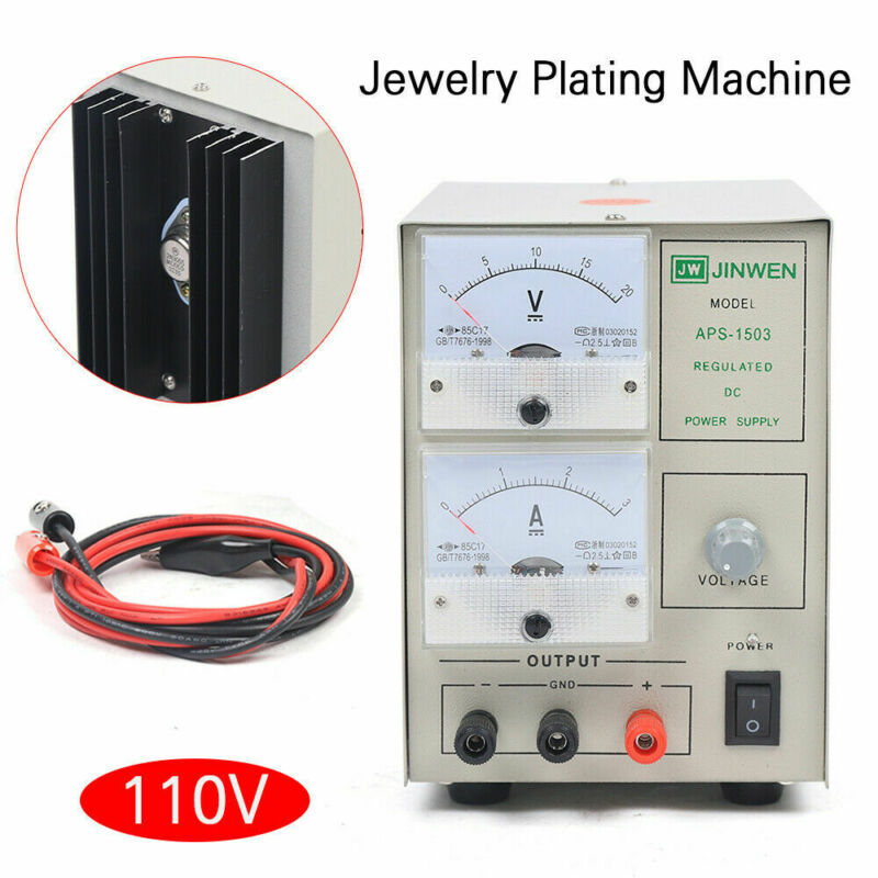Platinum Silver Gold Plating Machine Jewelry Plater Electroplating Rectifier kit